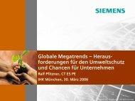 Globale Megatrends – Heraus- forderungen für den Umweltschutz ...