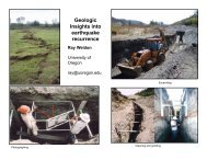 Geologic Insights into earthquake recurrence Ray Weldon