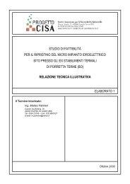 Relazione tecnica illustrativa - Centro CISA