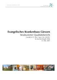 Evangelisches Krankenhaus Giessen - AGAPLESION Frankfurter ...