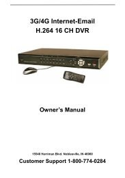 3G/4G Internet-Email H.264 16 CH DVR Owner's ... - Home Depot