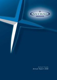 Astral Foods Annual Report 2008