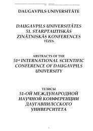 DAUGAVPILS UNIVERSITĀTES 51 ... - DU conference