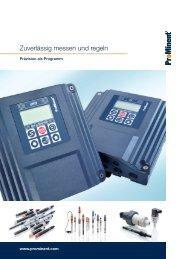 Broschüre - Mess- und Regeltechnik - Prominent