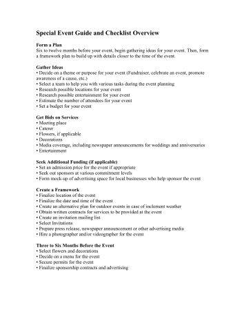 Sample Event Planning Checklist 1 - Heritage Ohio