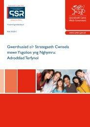 Gwerthusiad o'r Strategaeth Cwnsela mewn ... - Learning Wales