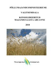 Põllumajandusministeeriumi valitsemisala majandusaasta aruanne ...