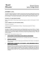Board Minutes - Santa Rosa Junior College