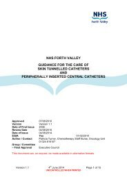 Peripherally Inserted Central Catheter (PICC) Care - NHS Forth Valley