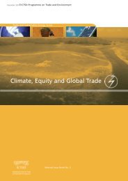 Climate, Equity and Global Trade - ictsd
