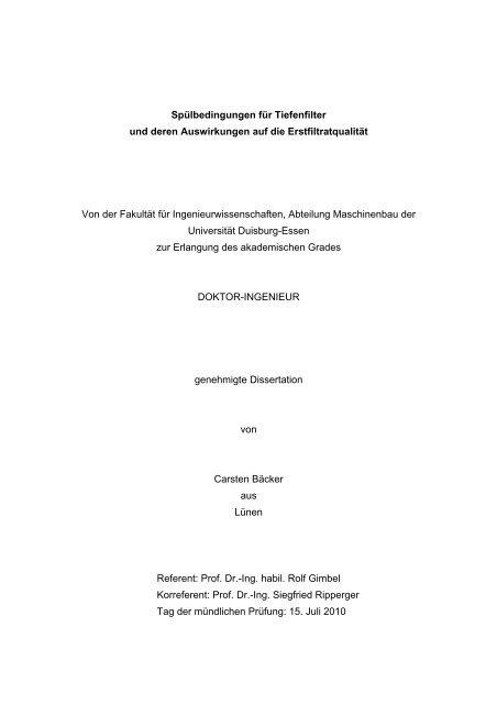Tabellarischer Lebenslauf Carsten Bäcker Duepublico Universität