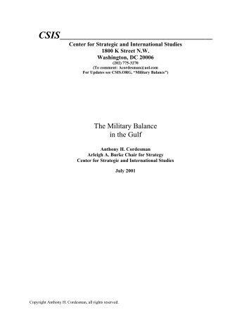 The Military Balance in the Gulf - Iraq Watch