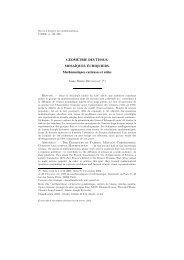 géométrie des tissus - Publications de la SMF