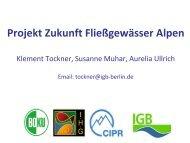 Projekt Zukunft Fließgewässer Alpen