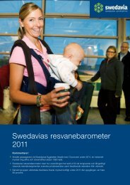 Swedavias resvanebarometer 2011