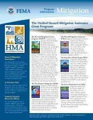 The Unified Hazard Mitigation Assistance Grant ... - FloodSmart.gov