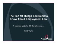 The Top 10 Things You Need to Know About Employment Law
