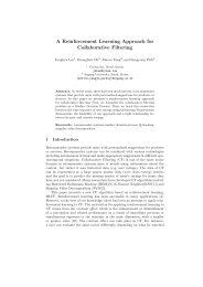 A Reinforcement Learning Approach for Collaborative Filtering
