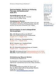 SoSe 2012 - Fachgebiet Planungs- und Bauökonomie - TU Berlin