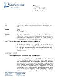 Länsi- ja Sisä-Suomi Päätös Nro 9/2013/1 Dnro LSSAVI/269/04.08 ...