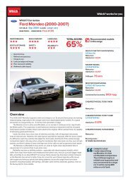 Ford Mondeo (2000-2007) - Which.co.uk