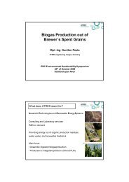 Biogas Production out of Brewer´s Spent Grains - European Brewery ...