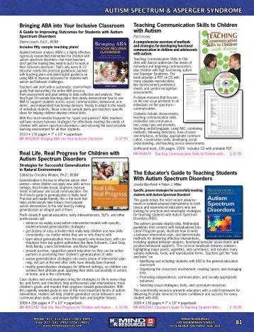 AUTISM SPECTRUM & ASPERGER SYNDROME - Mind Resources