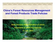 China's Forest Resources Management and Forest Products Trade ...