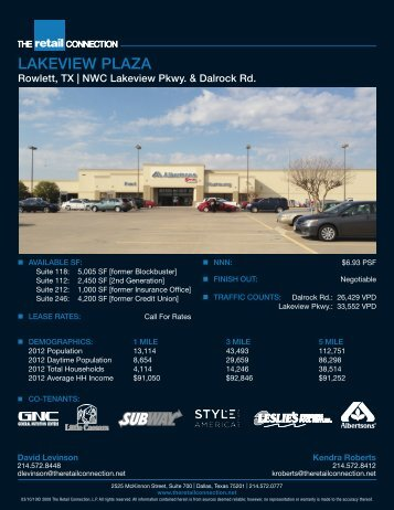 LAKEVIEW PLAZA - The Retail Connection