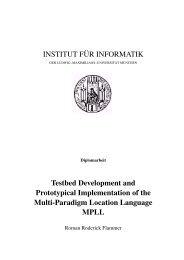 INSTITUT F¨UR INFORMATIK Testbed Development and ...