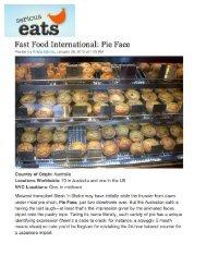 Fast food international: Pie Face 27 July, 2012