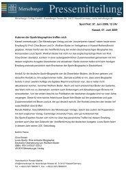 07. Juni 2009, 12 Uhr Kasse - Merseburger Verlag