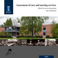 Assessment of care and nursing services - Drammen kommune