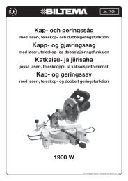 Kap- och geringssåg Kapp- og gjæringssag Katkaisu- ja ... - Biltema