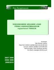 Pärnu Hansagümnaasiumi sisehindamise aruande lisad [pdf 4 365 ...