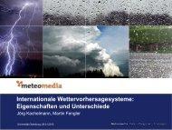 Wie entsteht eine gute Wettervorhersage - Universität Oldenburg