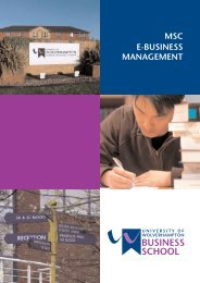 MSC E-BUSINESS MANAGEMENT - University of Wolverhampton
