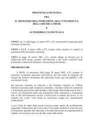 Protocolli d'intesa - Torna alla home page del Ministero - Miur