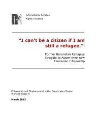 """""""I can't be a citizen if I am still a refugee.""""1 - International Refugee ..."""