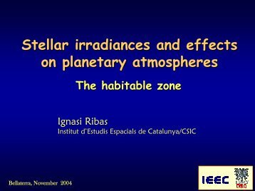 Stellar irradiances and effects on planetary atmospheres