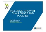 INCLUSIVE GROWTH: CHALLENGES AND POLICIES