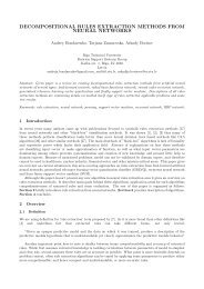 decompositional rules extraction methods from neural ... - Aleph Files