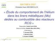 Étude du comportement de l'hélium dans les liners métalliques(Mo)