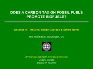 does a carbon tax on fossil fuels promote biofuels? - United States ...