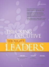 Trucking Executive Thought Leaders - Inbound Logistics