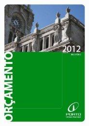 Relatório do Orçamento 2012 - Câmara Municipal do Porto