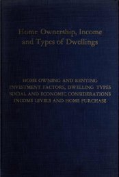 IV. Home Ownership, Income, and Types of ... - Michael Carliner