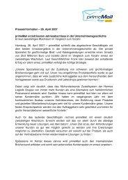 Presseinformation – 26. April 2007 primeMail erzielt besten ...