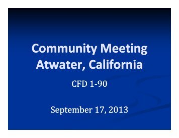 Community Meeting Atwater, California - City of Atwater