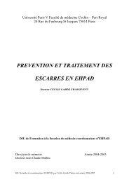 Prévention et traitement des escarres en EHPAD